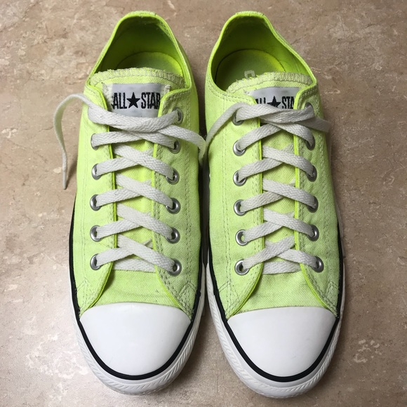 bf48ba9b1080 Converse Shoes - Converse Used Lime Green Chuck Taylor s